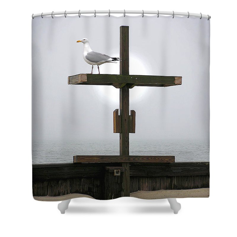 Cross Shower Curtain featuring the photograph Cross by Charles Harden