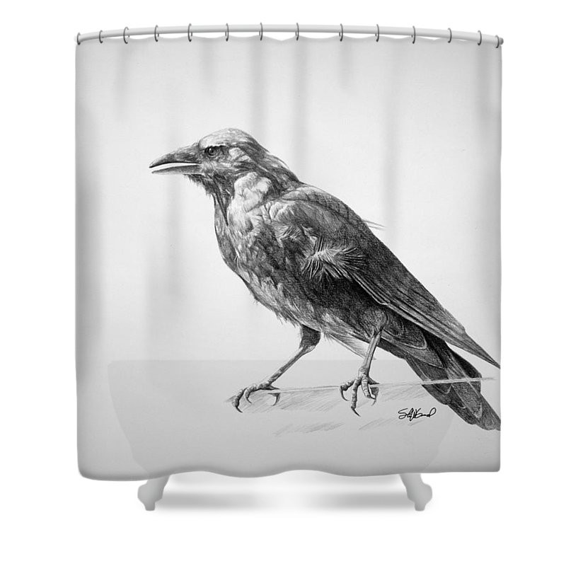 Crow Shower Curtains