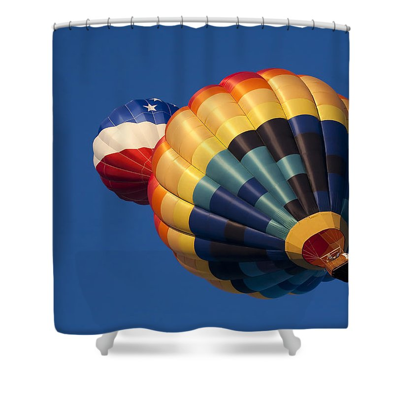 Balloon Shower Curtain featuring the photograph Crowded Pattern by Mike Dawson