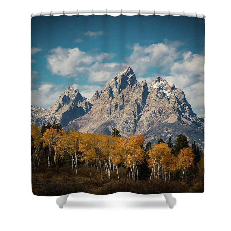5dsr Shower Curtain featuring the photograph Crown For Tetons by Edgars Erglis