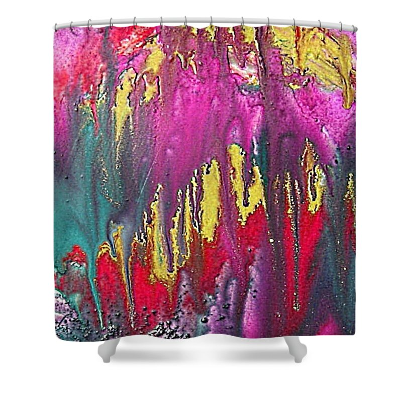 Sorrow Shower Curtain featuring the painting Crying Time by Dragica Micki Fortuna
