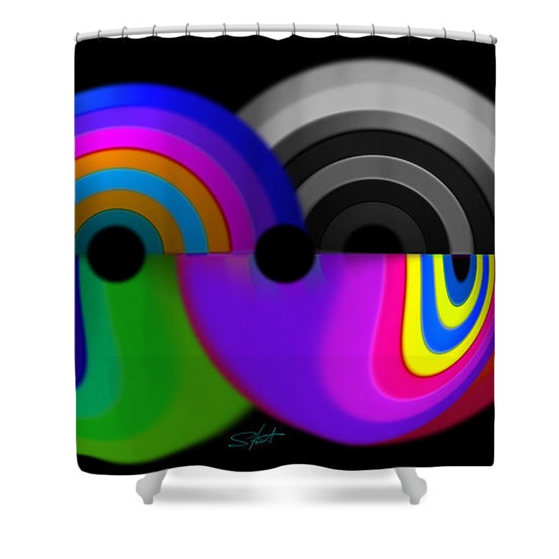 Crystal Shower Curtain featuring the digital art Crystal Ball by Charles Stuart