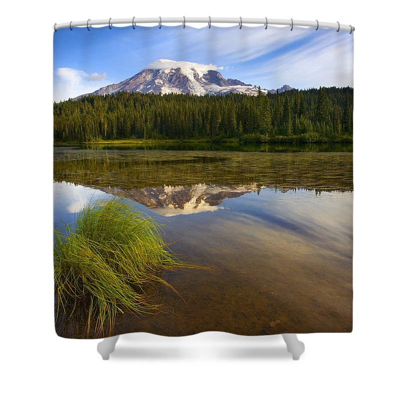 Lake Shower Curtain featuring the photograph Crystal Clear by Mike Dawson
