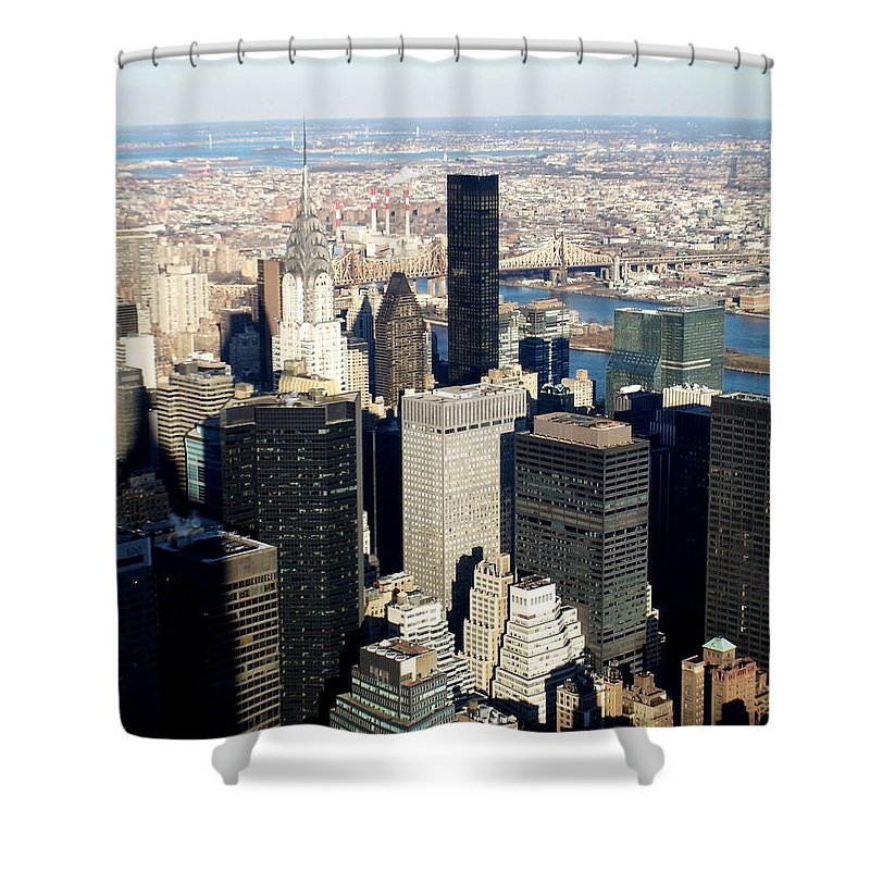 Crystler Building Shower Curtain featuring the photograph Crystler Building 2 by Anita Burgermeister