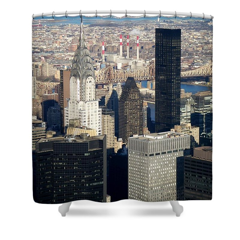 Crystler Building Shower Curtain featuring the photograph Crystler Building by Anita Burgermeister