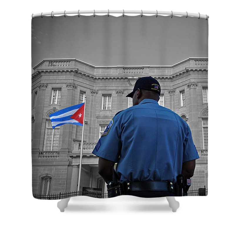 Cuban Shower Curtain featuring the photograph Cuban Protection by Jost Houk