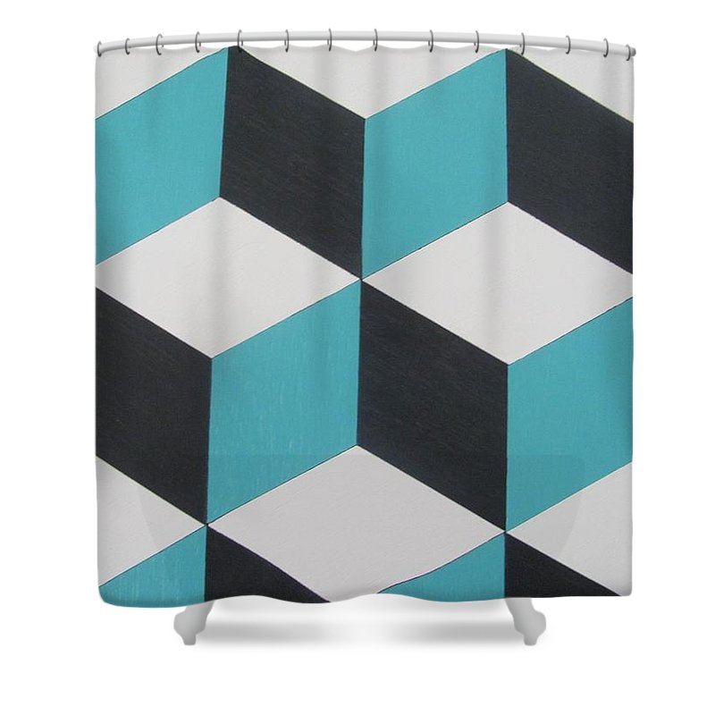 Cubes Shower Curtain featuring the photograph Cubes by Russ Melina