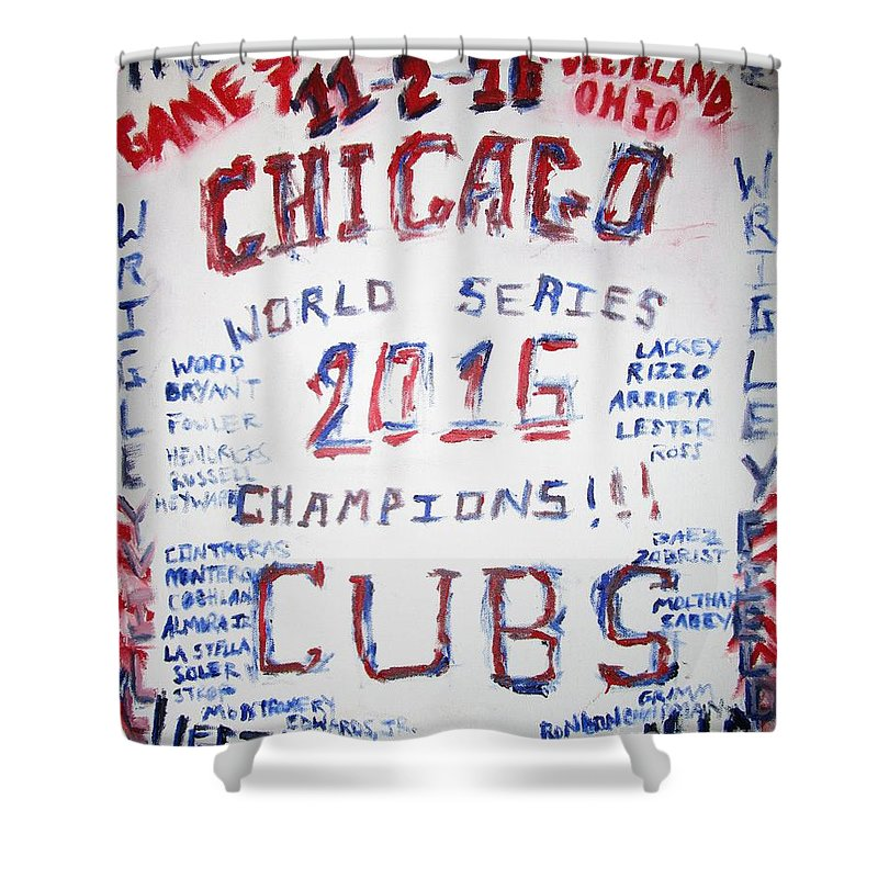 Cubs Champions Shower Curtain For Sale By John Sabey Jr