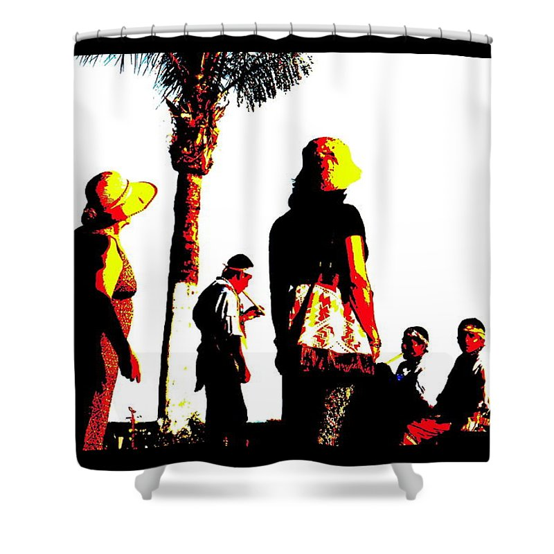 Indigenous Shower Curtain featuring the photograph Culture-in-motion by Kevin Gaudette