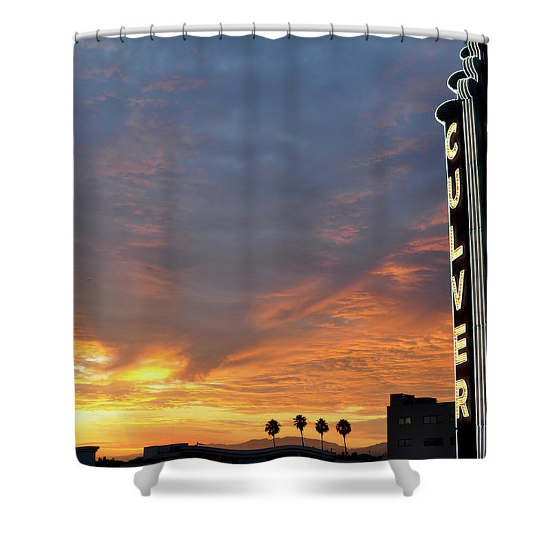 Landscape Shower Curtain featuring the photograph Culver City Marquee by Shannon Nickerson