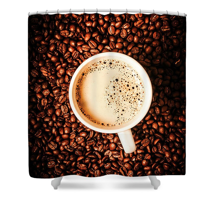 Coffee Shower Curtain featuring the photograph Cup And The Coffee Store by Jorgo Photography - Wall Art Gallery