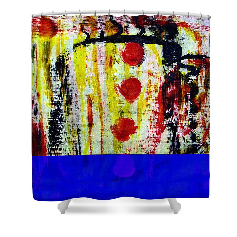 Coffee Shower Curtain featuring the painting Cup Of Java by Wayne Potrafka