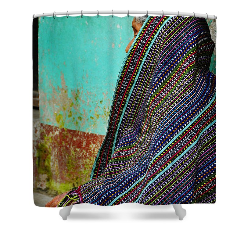 Skip Hunt Shower Curtain featuring the photograph Curandera by Skip Hunt