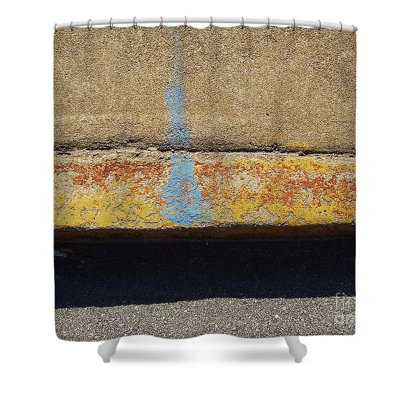 Abstract Shower Curtain featuring the photograph Curb by Flavia Westerwelle