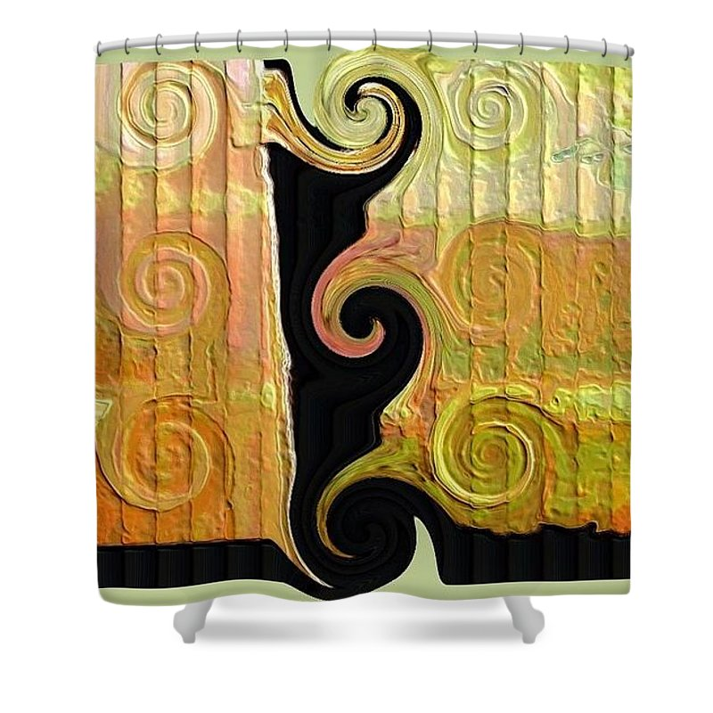 Abstract Digital Art Shower Curtain featuring the photograph Curling Up by Diana Chason