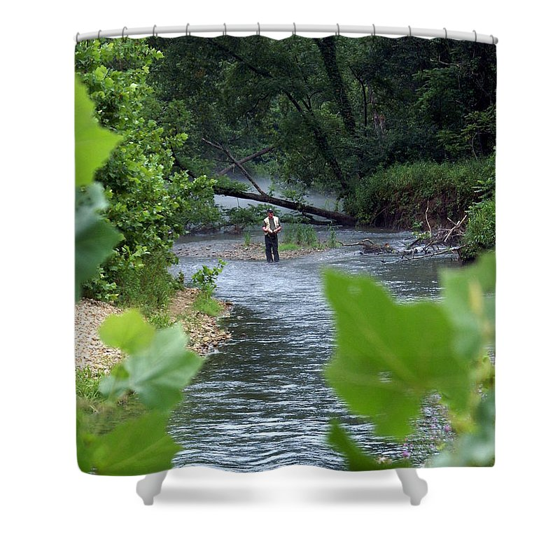 Current River Shower Curtain featuring the photograph Current River 5 by Marty Koch