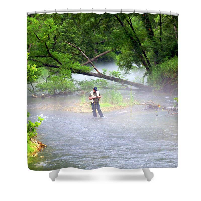 Current River Shower Curtain featuring the photograph Current River 6 by Marty Koch
