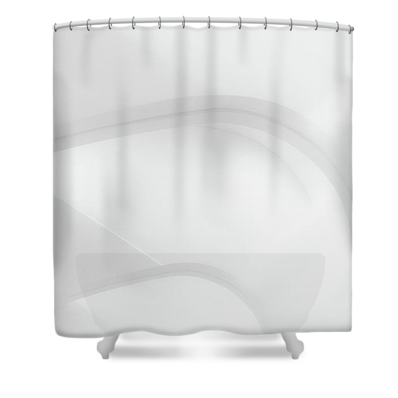 Black And White Shower Curtain featuring the photograph Curved Lines 2 by Scott Norris