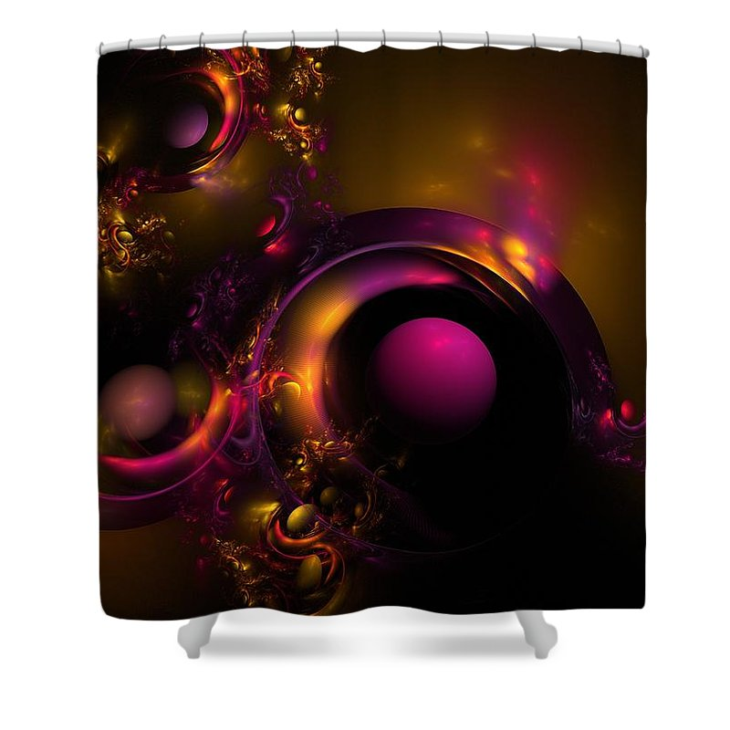 Fractal Shower Curtain featuring the digital art Curvy Baby by Lyle Hatch