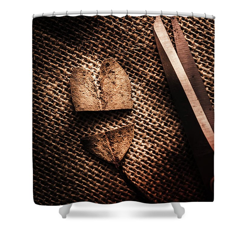 Fall Shower Curtain featuring the photograph Cut Heart Leaf, Fall Of Love by Jorgo Photography - Wall Art Gallery