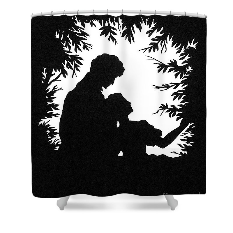 19th Century Shower Curtain featuring the photograph Cut-paper Silhouette by Granger