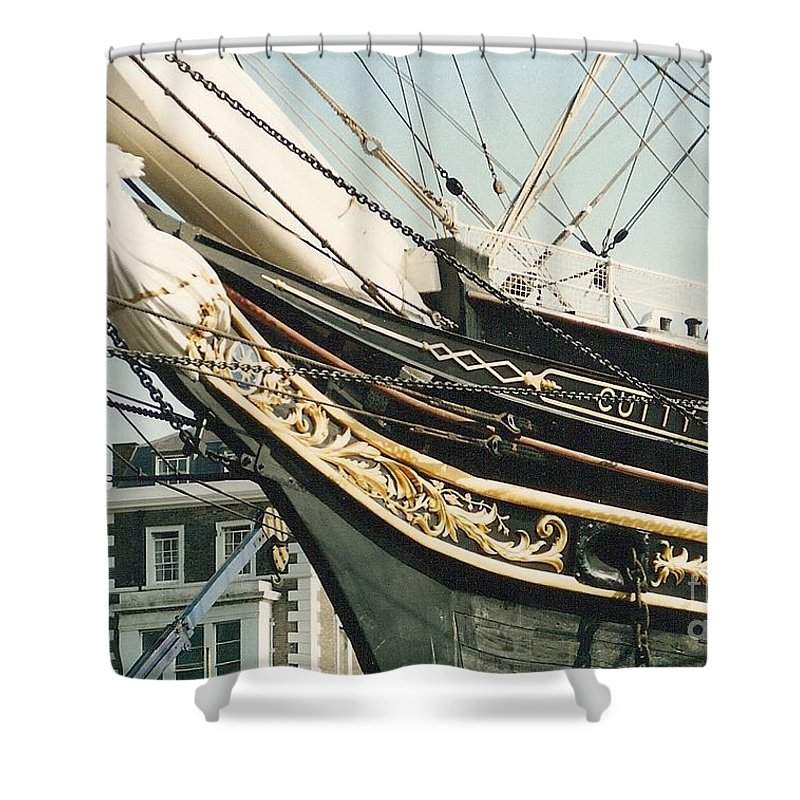 Ship Shower Curtain featuring the photograph Cutty Sark by Mary Rogers