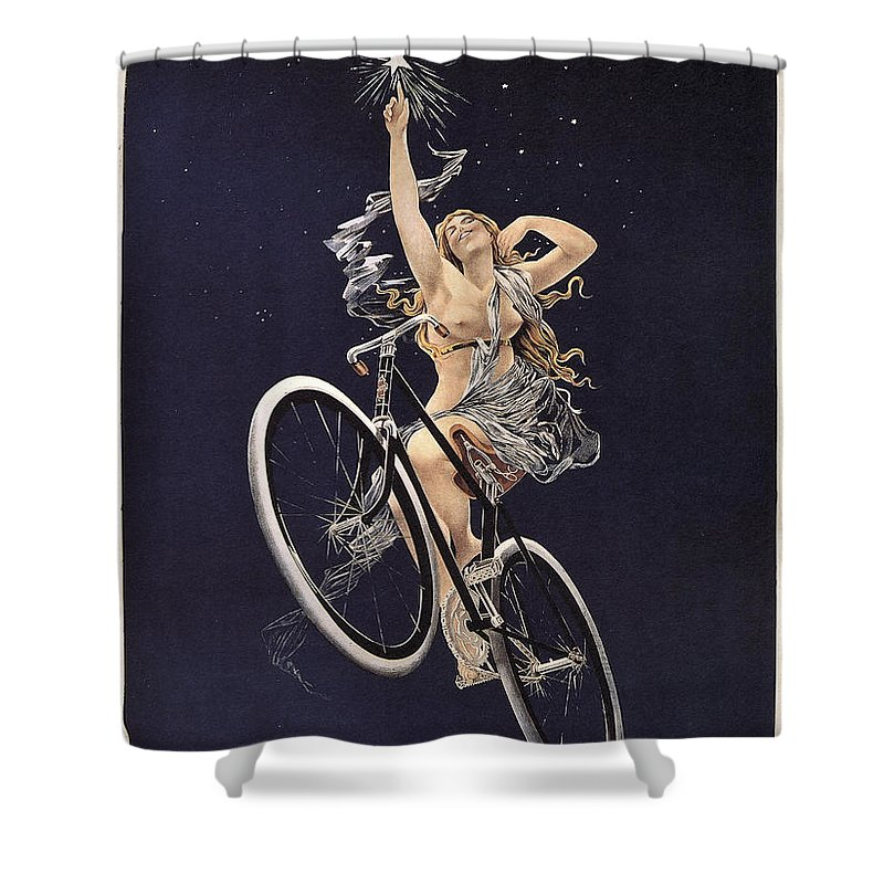 sirius Cycles Shower Curtain featuring the photograph Cycles Sirius - Paris 1899 by Daniel Hagerman