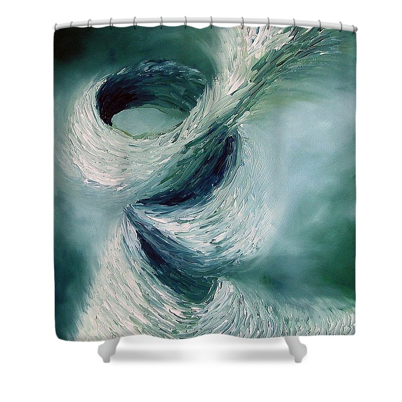 Tornado Shower Curtain featuring the painting Cyclone by Elizabeth Lisy Figueroa