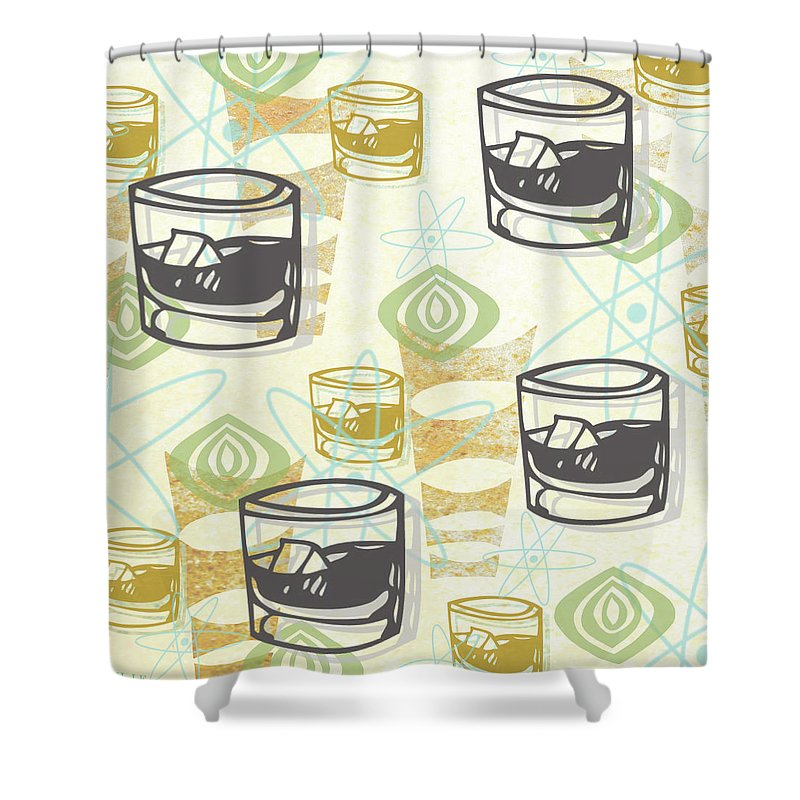Pattern Shower Curtain featuring the painting Dad Is Home 1954 by Little Bunny Sunshine