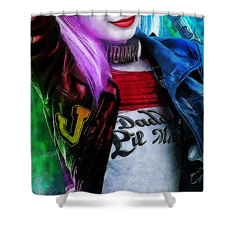Heroes Shower Curtain featuring the digital art Daddys Little Girl by Canvas Cultures