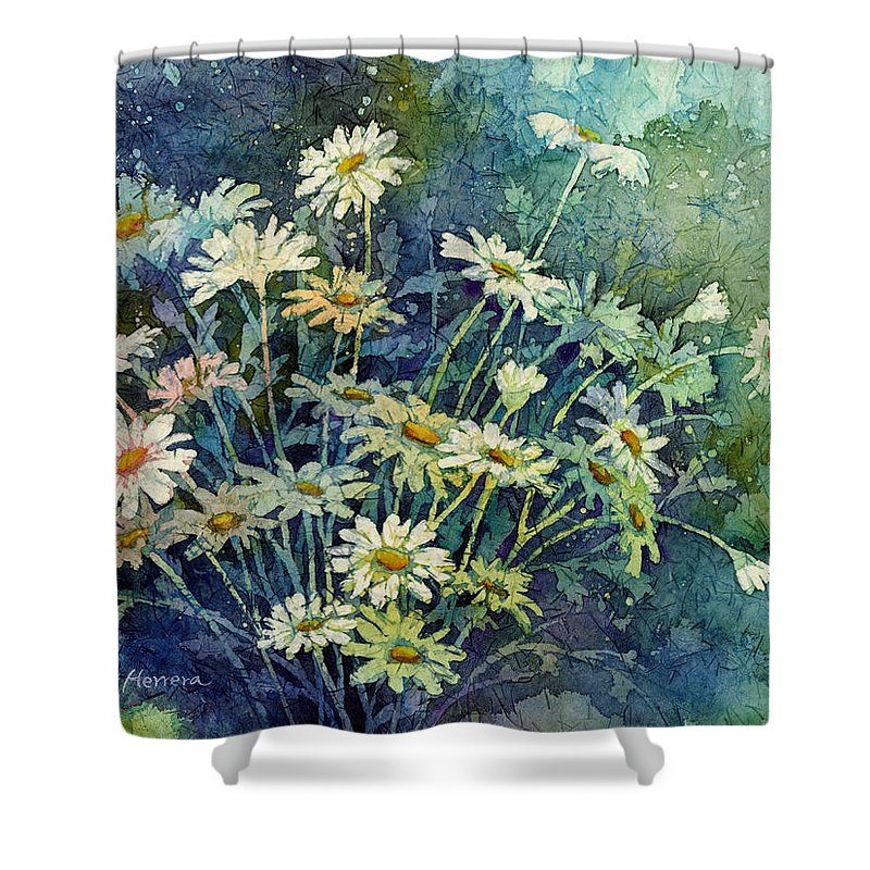 Daisy Shower Curtain featuring the painting Daisy Bouquet by Hailey E Herrera