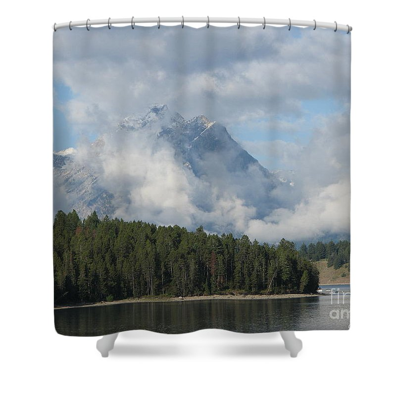 Patzer Shower Curtain featuring the photograph Dam Clouds by Greg Patzer
