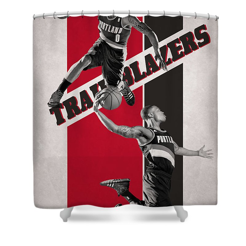 Portland Trail Blazers Art: Portland Trail Blazers Shower Curtains
