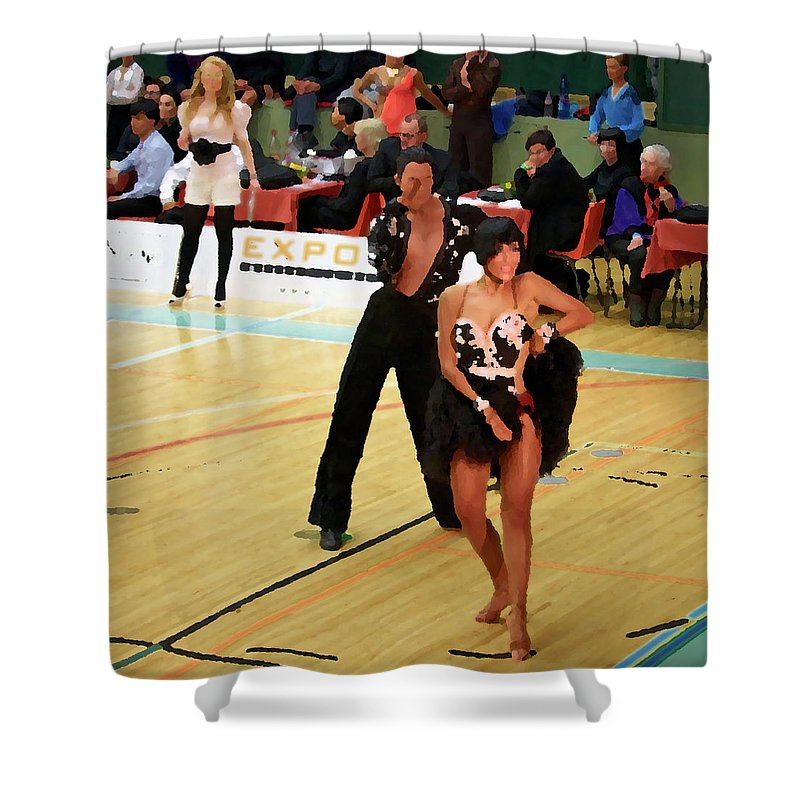 Lehtokukka Shower Curtain featuring the photograph Dance Contest Nr 02 by Jouko Lehto