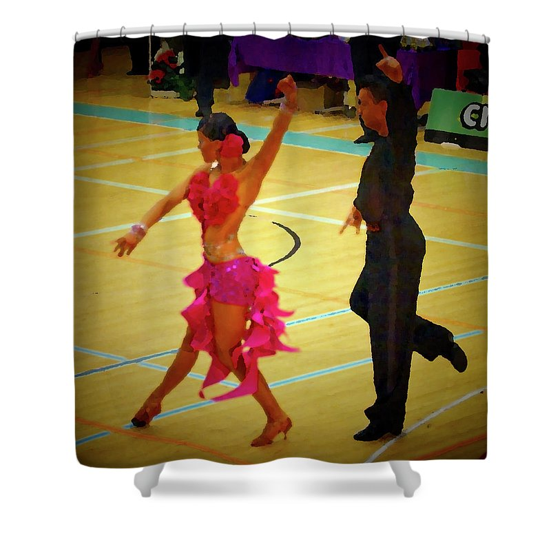 Lehtokukka Shower Curtain featuring the photograph Dance Contest Nr 06 by Jouko Lehto