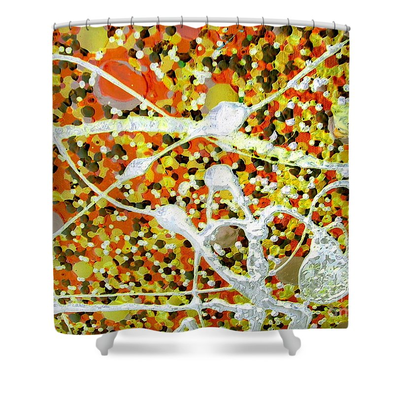 Dancing Machine Shower Curtain featuring the painting Dance Machine by Dawn Hough Sebaugh