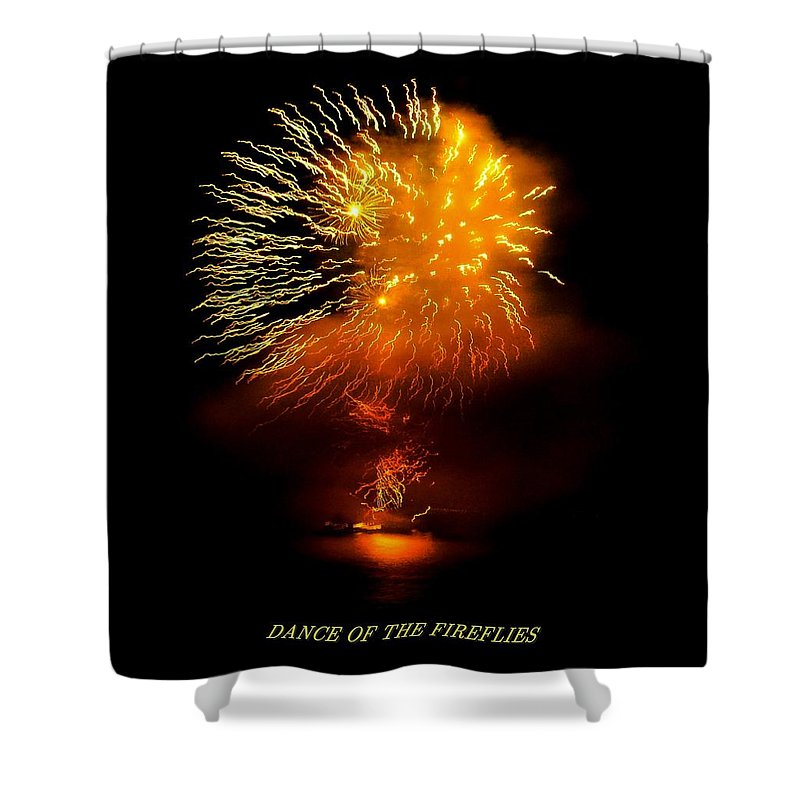 Fireworks Shower Curtain featuring the photograph Dance Of The Fireflies by Kendall Eutemey