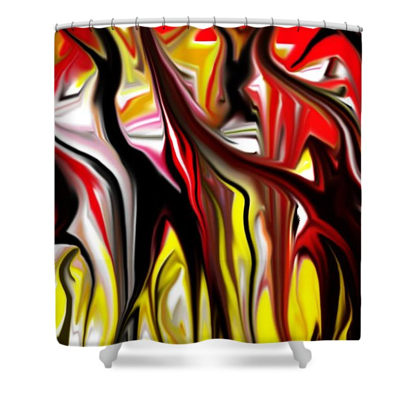 Abstract Shower Curtain featuring the digital art Dance Of The Sugar Plum Faries by David Lane