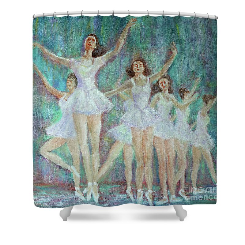 Impressionism Shower Curtain featuring the painting Dance Rehearsal by Lyric Lucas