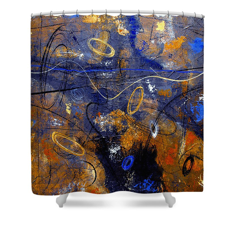 Abstract Shower Curtain featuring the painting Dance The Night Away by Ruth Palmer