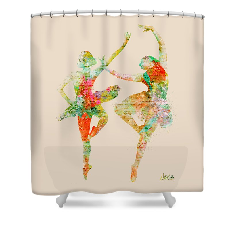 Ballet Shower Curtain featuring the digital art Dance With Me by Nikki Smith