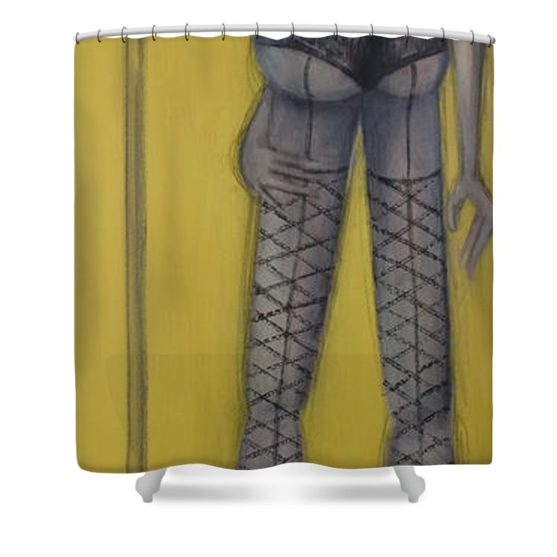 Dancer Shower Curtain featuring the painting Dancer by Kelly Jade King