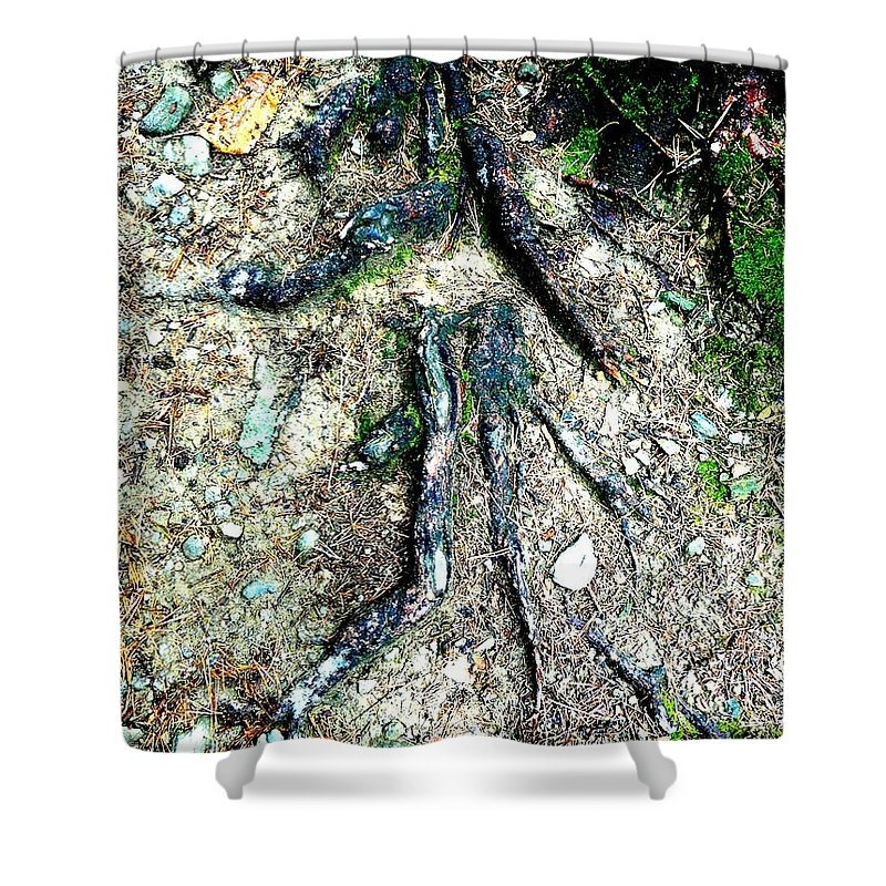 Roots Shower Curtain featuring the photograph Dancer by Valerie Ornstein