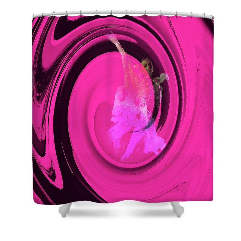 Colorful Shower Curtain featuring the photograph Dancers Watercolor 10 by Jean Francois Gil