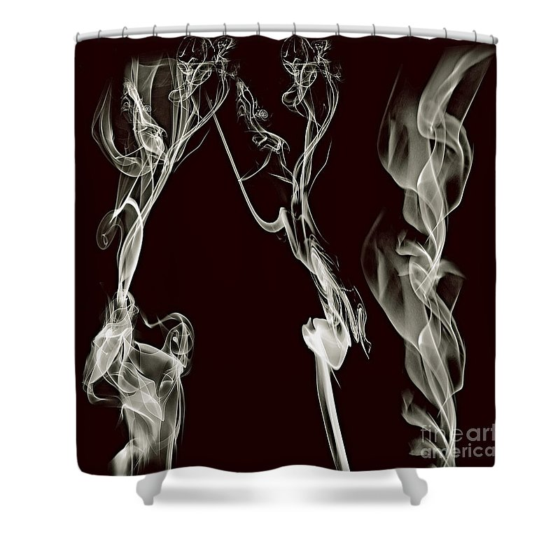Clay Shower Curtain featuring the digital art Dancing Apparitions by Clayton Bruster
