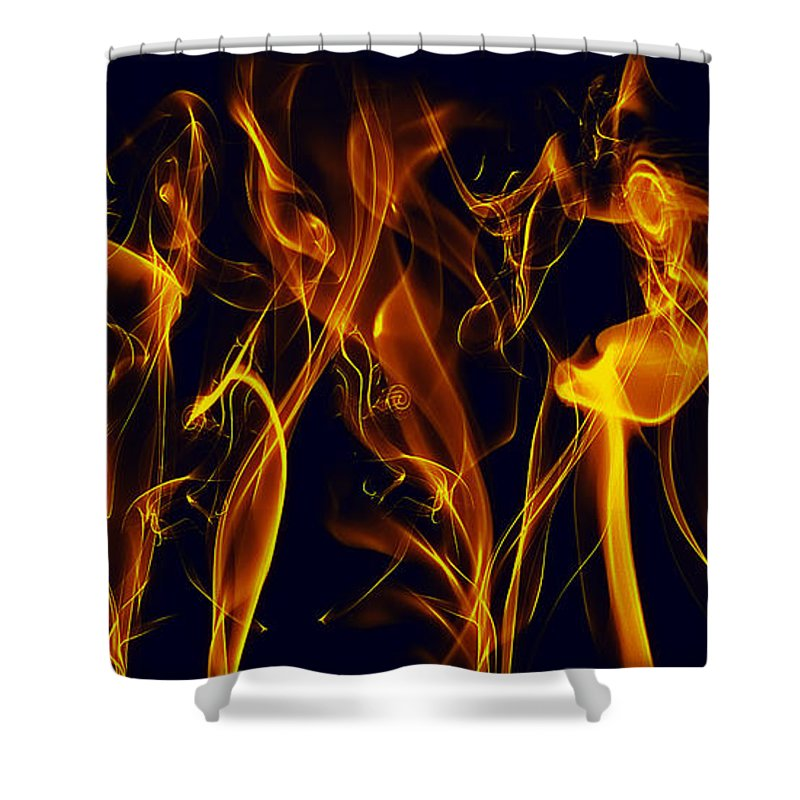 Clay Shower Curtain featuring the digital art Dancing by Clayton Bruster