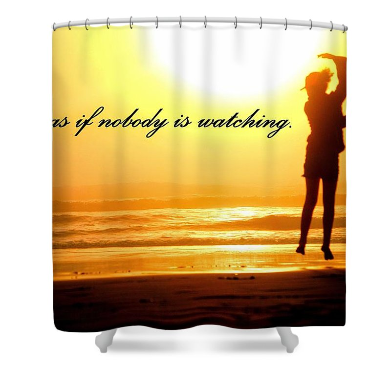 Landscape Shower Curtain featuring the photograph Dancing Daughter by Ann Dickinson