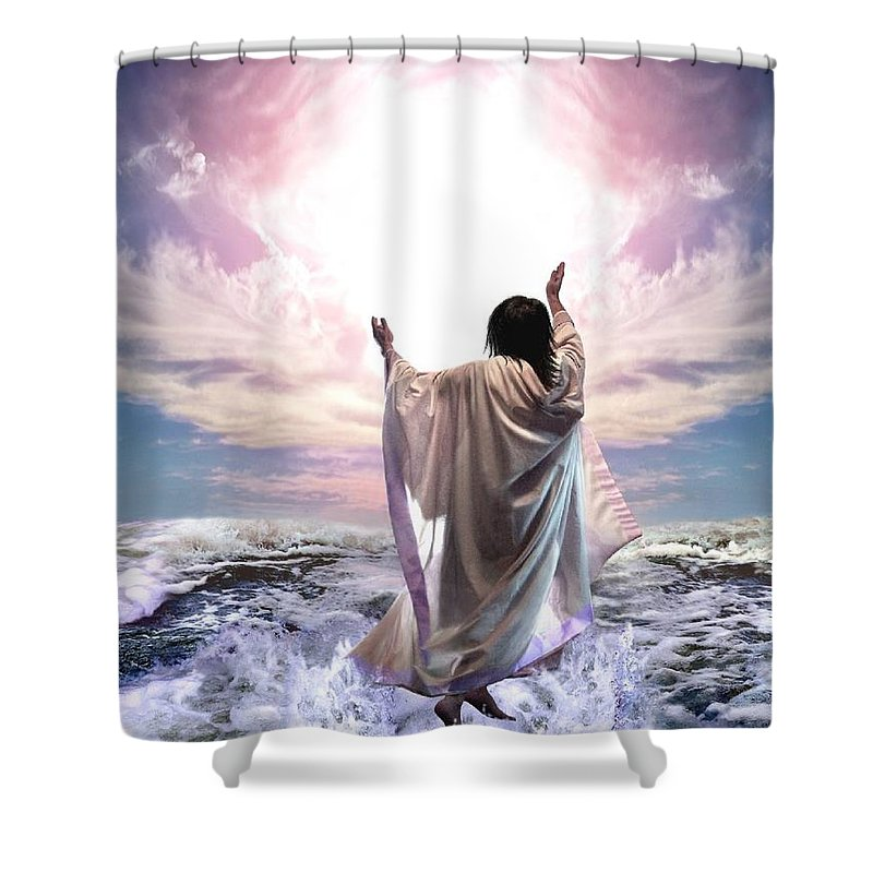 Yeshua Shower Curtain featuring the digital art Dancing For My Father by Bill Stephens
