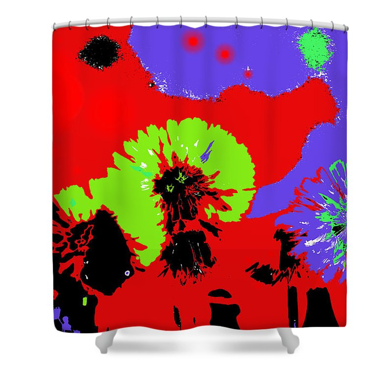 Abstract Shower Curtain featuring the photograph Dandelion Seeds by Jeff Swan