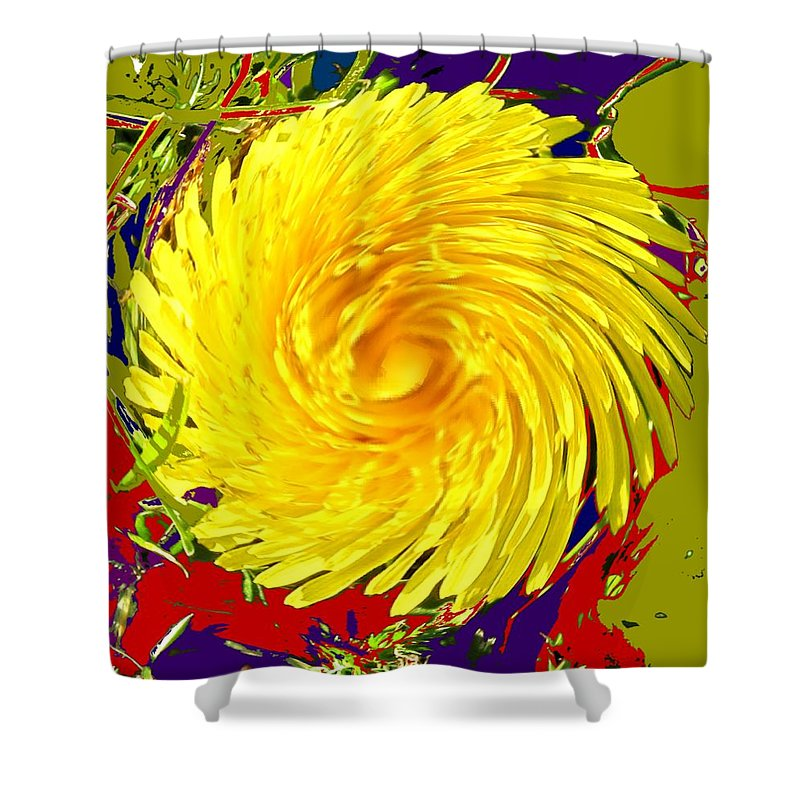 Flower Shower Curtain featuring the photograph Dandy Three by Ian MacDonald